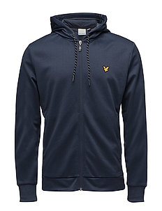 Shaw Full Zip Hooded Top - NAVY MARL