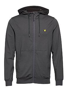 Lyle /& Scott Mens Tricot Classic Jersey Track Jacket Zip Up Sweat Top Black