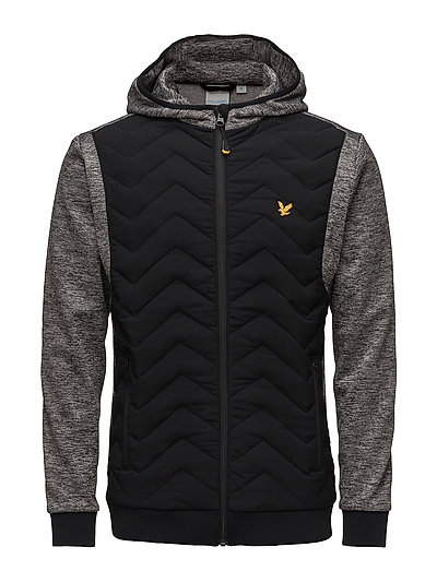 Oates Hooded zip through jckt - TRUE BLACK
