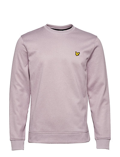 Braid Fleece Crew - DUSKY MAUVE MARL