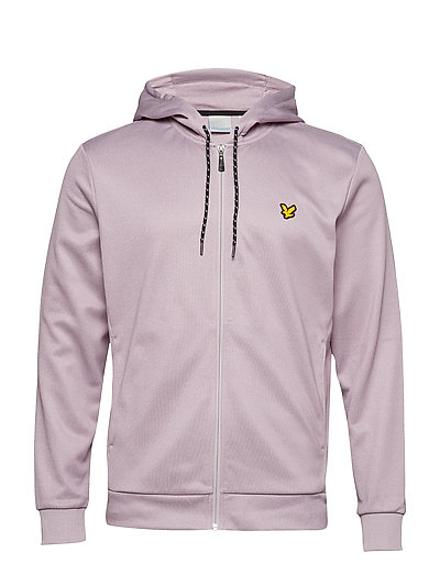 Shaw Full Zip Hooded Top - DUSKY MAUVE MARL