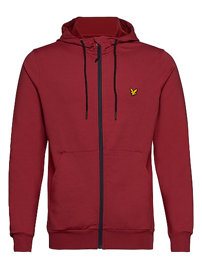 Superwick Full Zip Midlayer Hoodie Pullover Rot LYLE & SCOTT SPORT