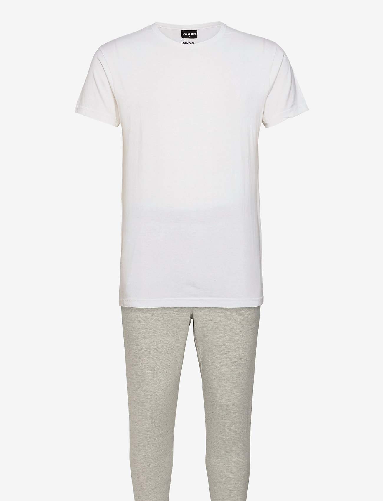 Lyle & Scott - BENJAMIN - pyjama's - bright white/light grey marl - 0