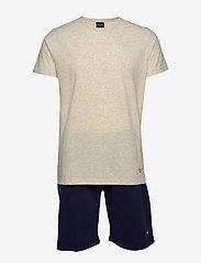 Lyle & Scott - CHARLIE - pyjamas - grey marl/peacoat - 0