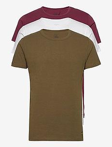 MAXWELL - basic t-shirts - zinfandel/bright white/dark olive
