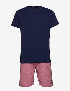 GLEN - pyjamas - peacoat/zinfandel