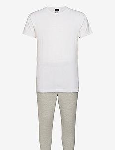 BENJAMIN - pyjama's - bright white/light grey marl