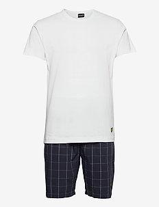 KYLE - pyjamas - bright white - check
