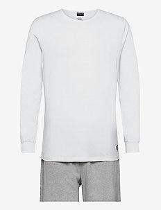 HUGO - pyjamas - bright white/light grey marl
