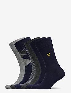 TIMOTHY - regular socks - grey marl/argyle/peacoat/stripe/dark grey marl/peacoat