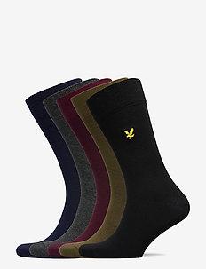 VICTOR - normale sokken - black/wine tasting/peacoat/dark olive/dark grey marl/black
