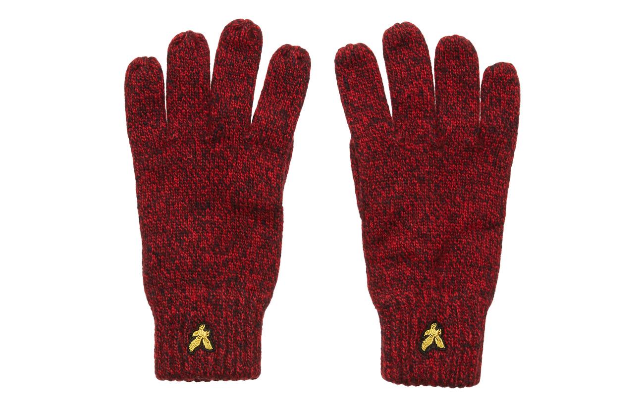 Lyle & Scott Mouline Gloves - GRENADINE RED/DARK NAVY