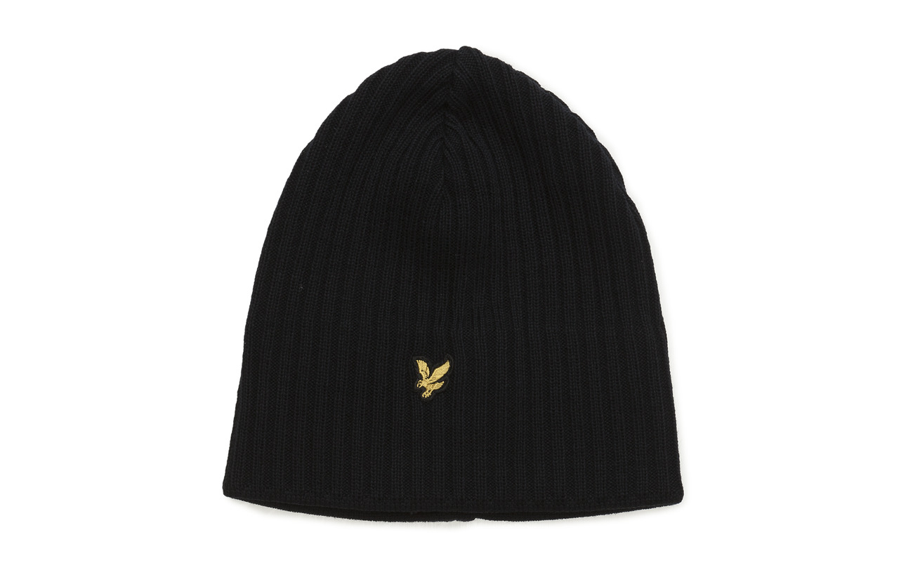 Lyle & Scott Knitted Ribbed Beanie - NEW NAVY