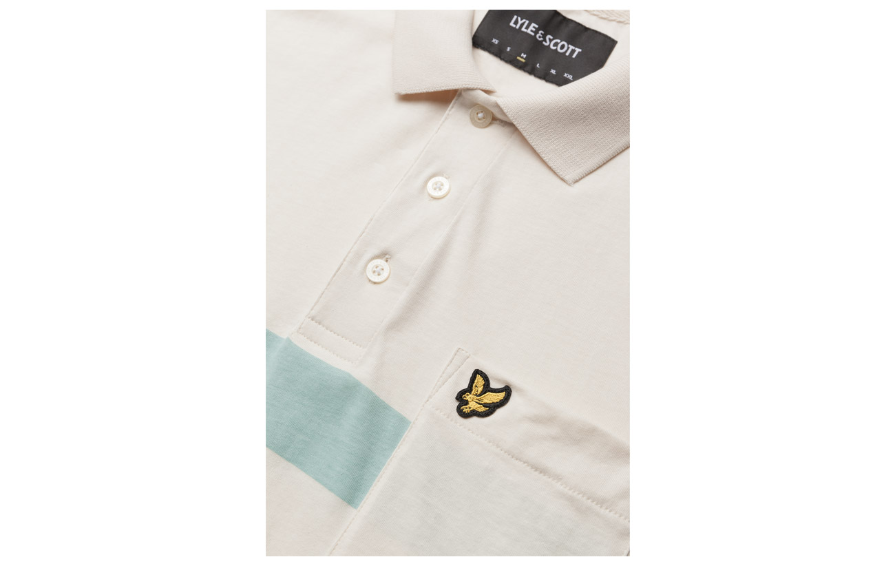 Lyle Stripe Polo White Seashell Shirt Scott amp; Wide 74wqx7fB