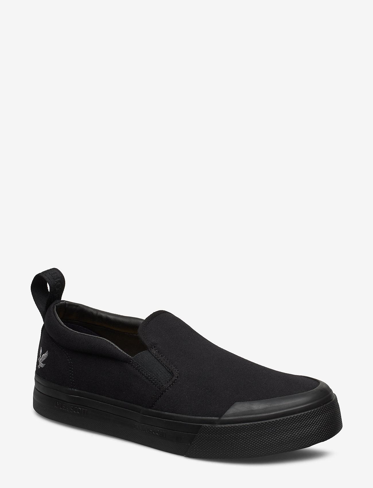 Lyle & Scott - Duncan - baskets slip-ons - black/black sole - 0