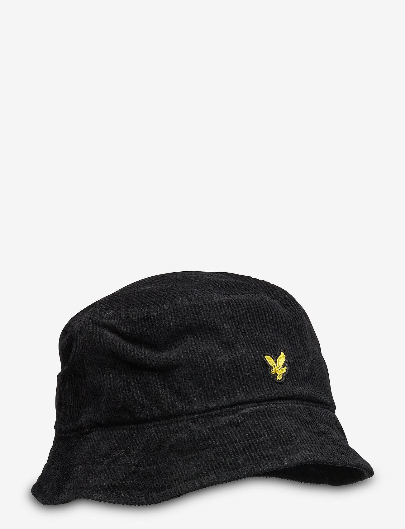 Lyle & Scott - Cord Bucket Hat - bucket hats - true black - 0