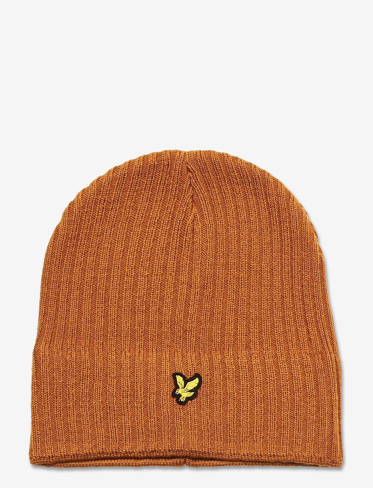 Lyle & Scott - Knitted Ribbed Beanie - bonnet - caramel - 0