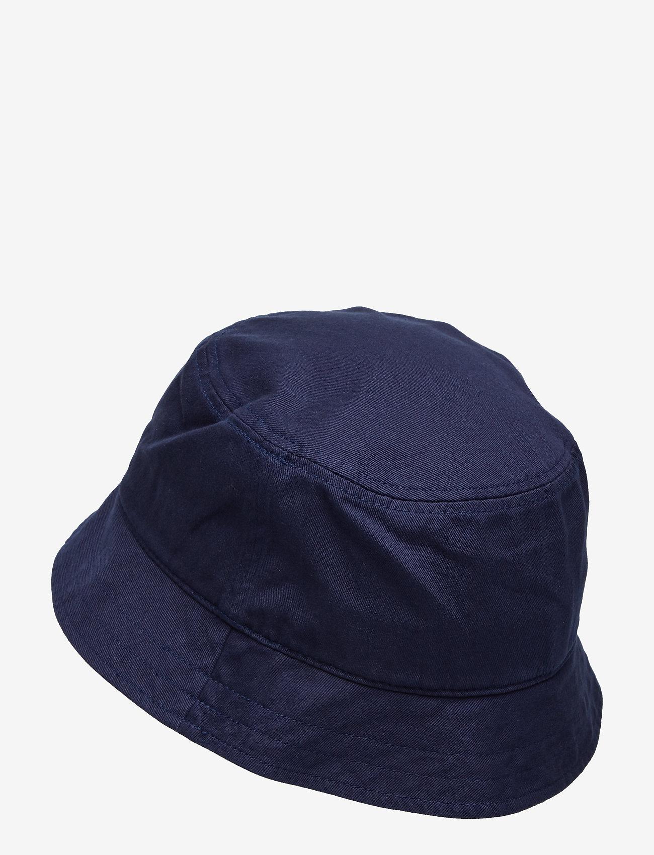 Lyle & Scott - Cotton Twill Bucket Hat - bucket hats - dark navy - 1