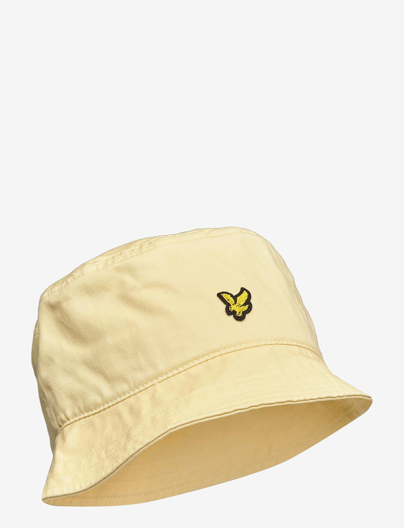 Lyle & Scott - Cotton Twill Bucket Hat - bucket hats - lemon - 0