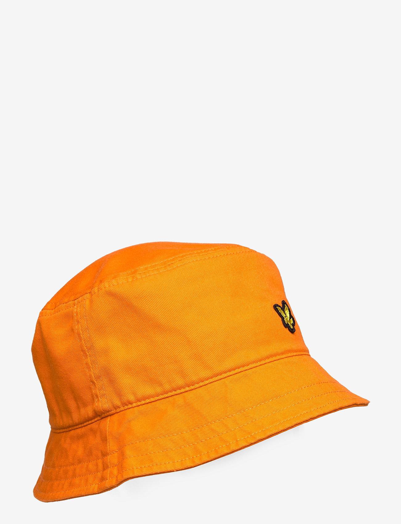 Lyle & Scott - Cotton Twill Bucket Hat - bucket hats - risk orange - 0