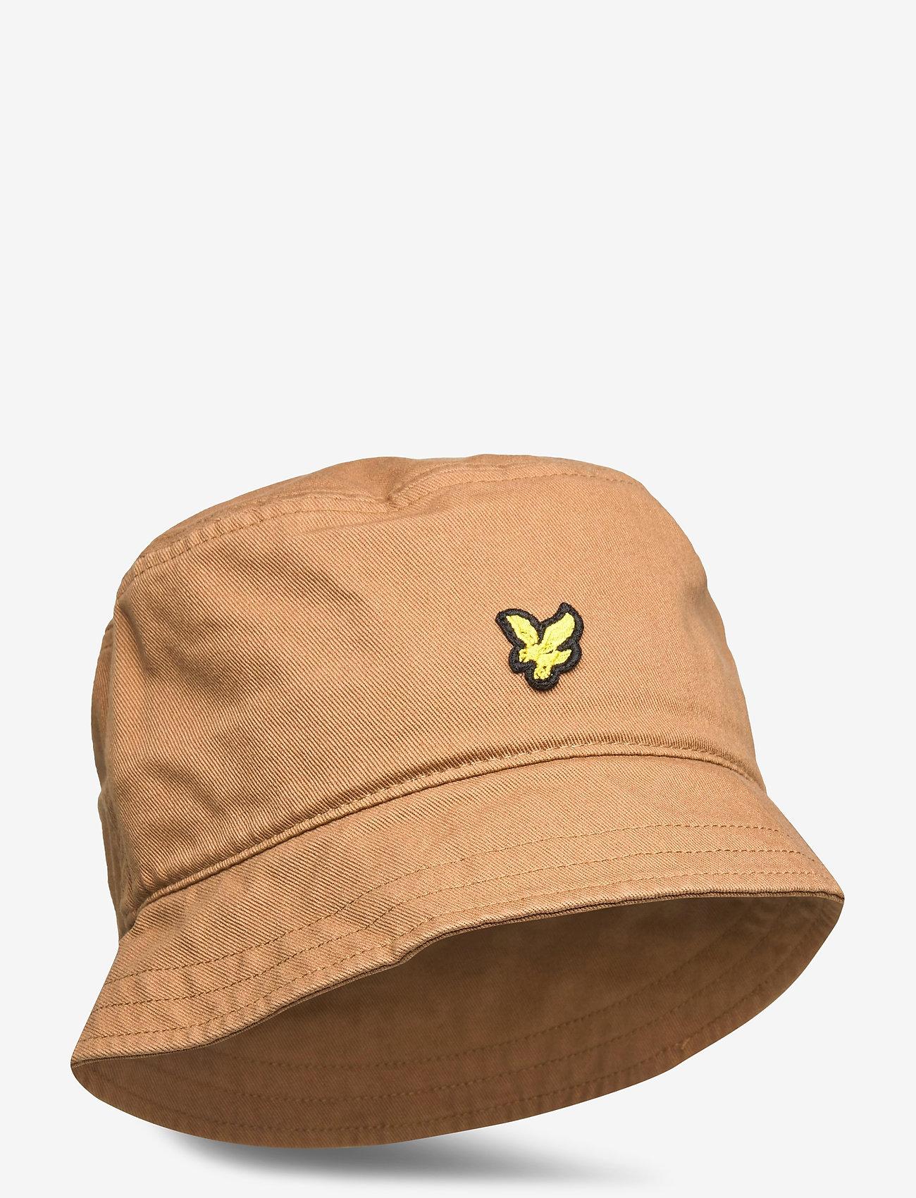 Lyle & Scott - Cotton Twill Bucket Hat - bucket hats - tawny brown - 0
