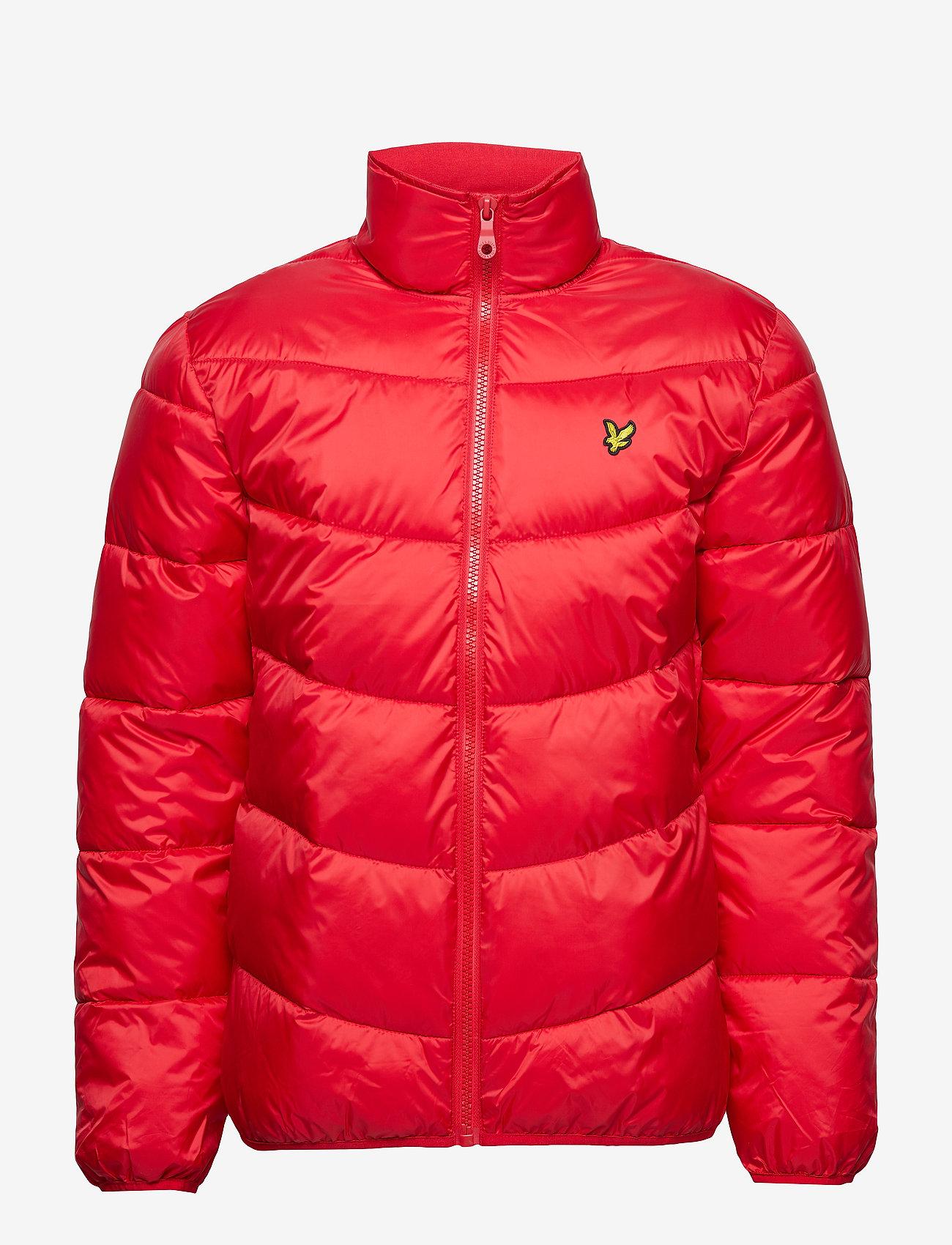 Funnel Neck Puffa Jacket (Dark Red) - Lyle & Scott K0TFCe