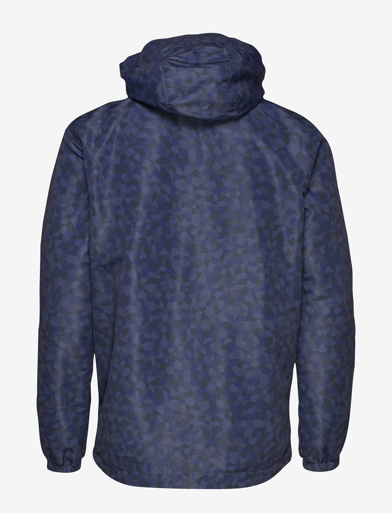 Lyle & Scott Geo Print Zip Through Hooded Jacket - Jakker og frakker NAVY GEO PRINT - Menn Klær