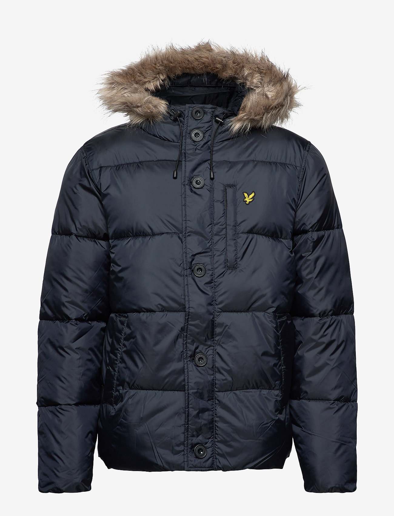 Lyle & Scott Wadded Hooded Bomber - Jakker og frakker DARK NAVY - Menn Klær