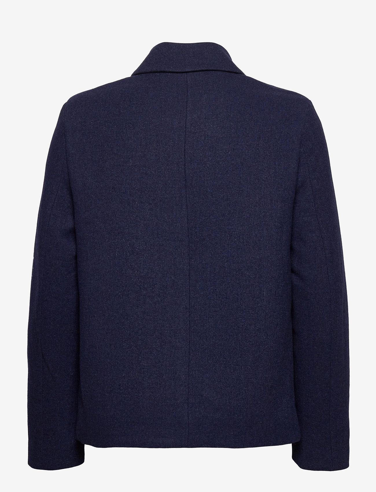 Lyle & Scott - Herringbone Wool Jacket - wool jackets - dark navy/ indigo - 1