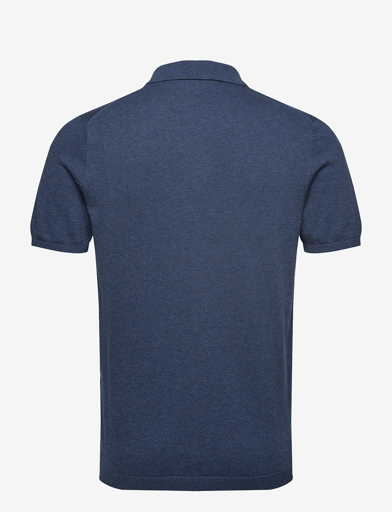 Lyle & Scott - SS Knitted Polo - lyhythihaiset - dark navy marl