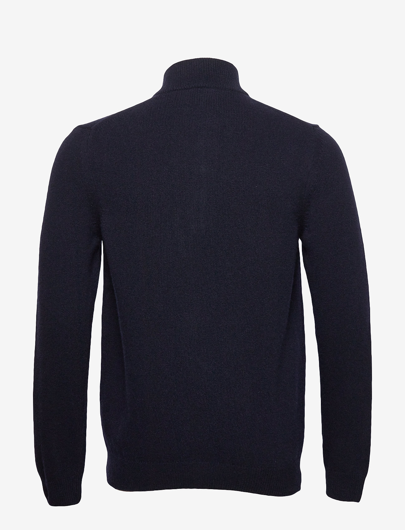 1/4 Zip Tipped Funnel Neck (Dark Navy) (649.35 kr) - Lyle & Scott