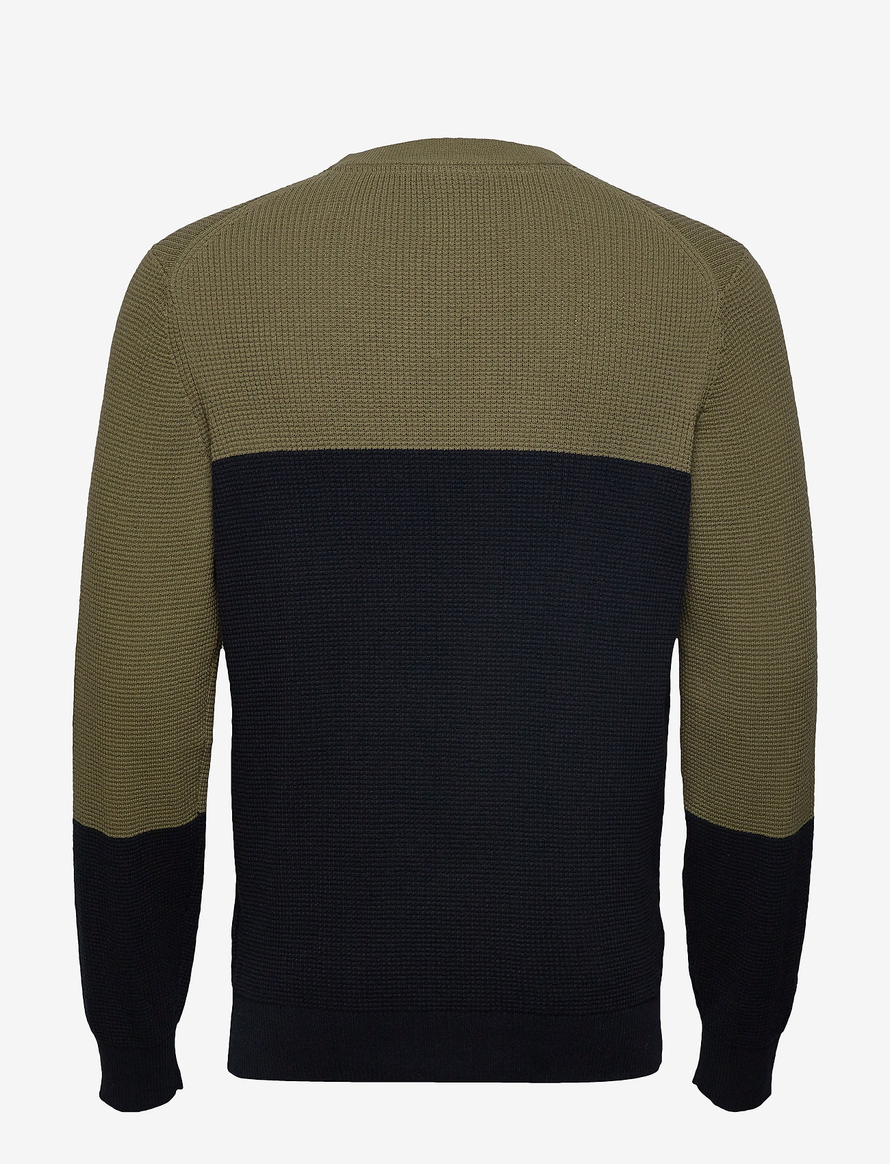 Colour Block Knitted Jumper (Dark Navy) - Lyle & Scott Bx7TEe