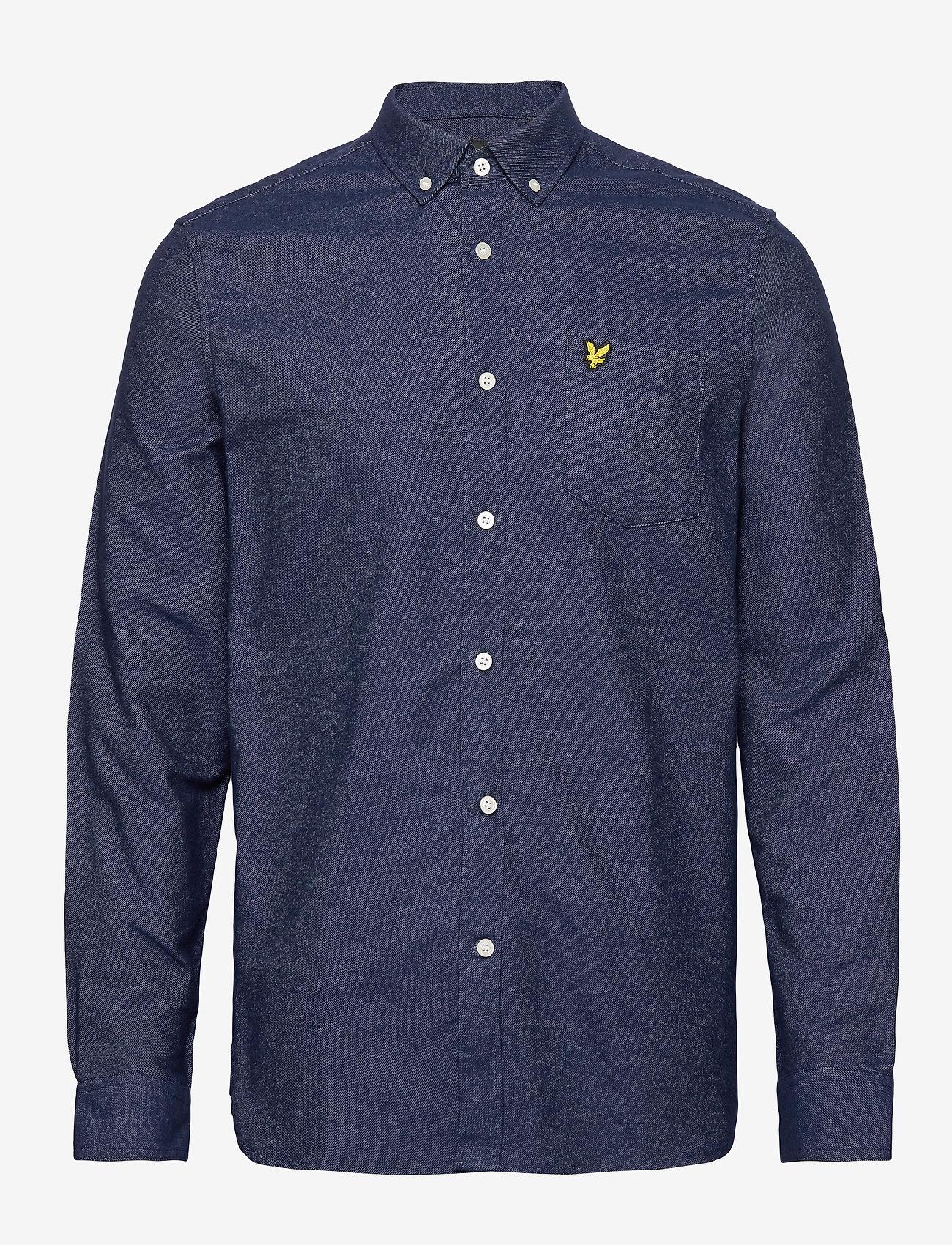 Lyle & Scott - Mottled Shirt - podstawowe koszulki - navy - 0