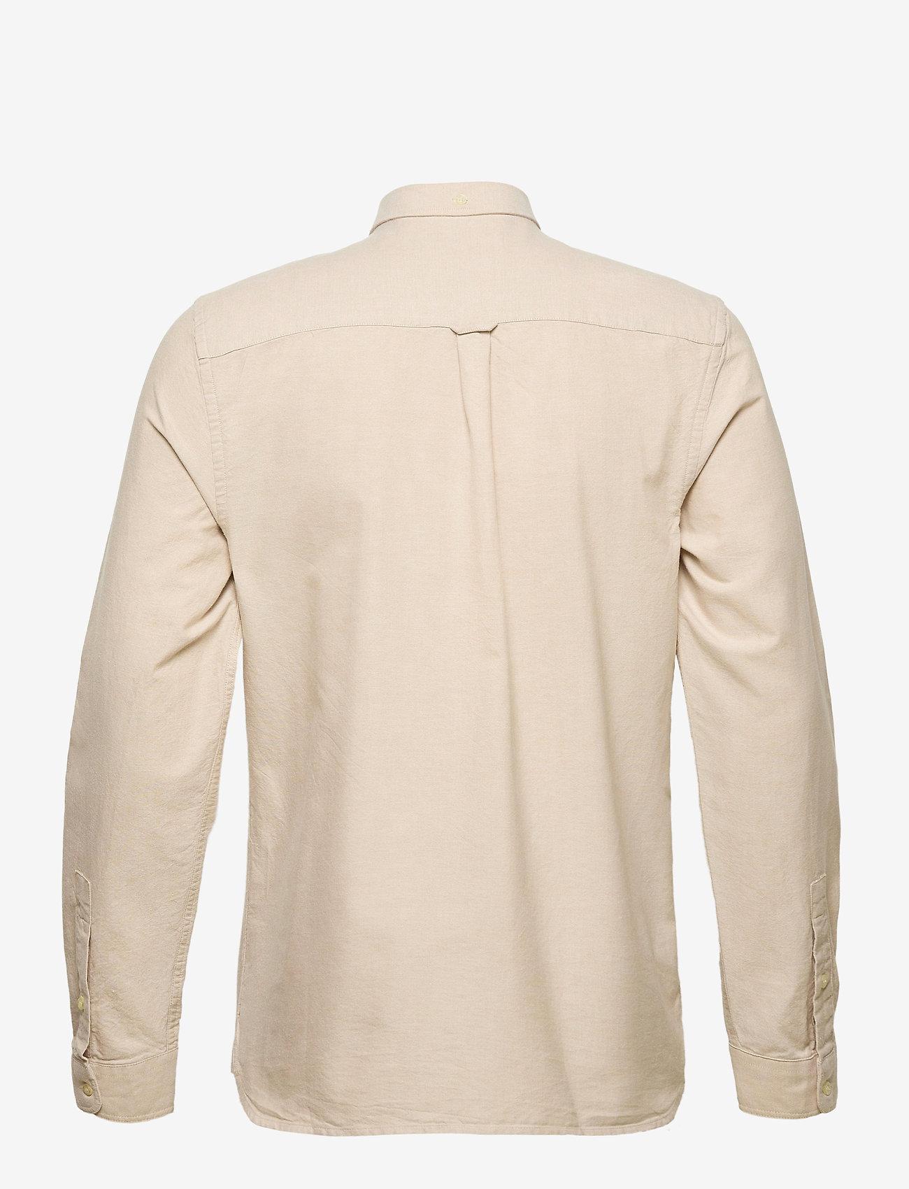 Lyle & Scott Regular Fit Light Weight Oxford Shirt - Skjorter SAND STORM/ WHITE - Menn Klær