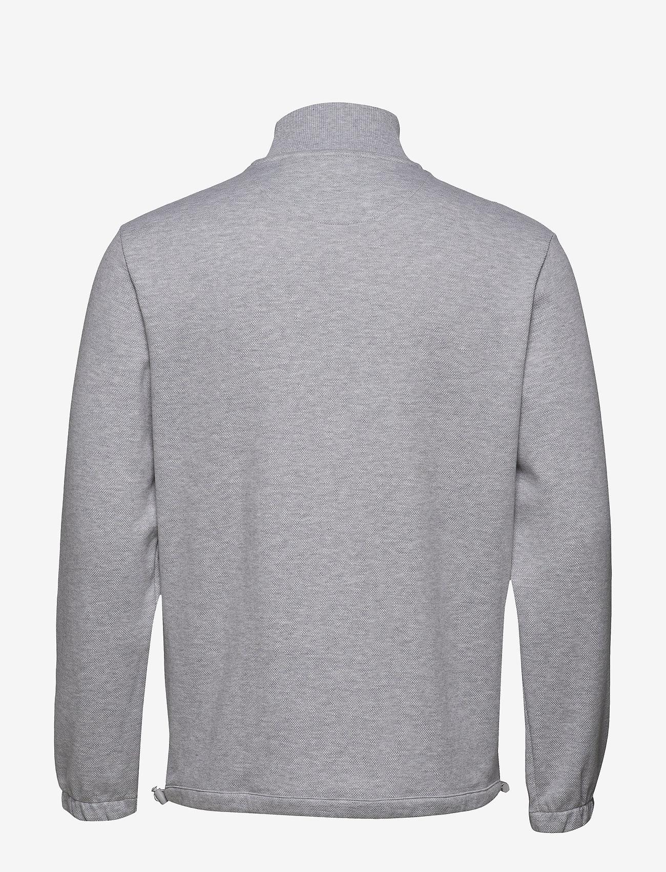 Lyle & Scott - 1/4 Zip Pique Sweatshirt - half zip - light grey marl - 1