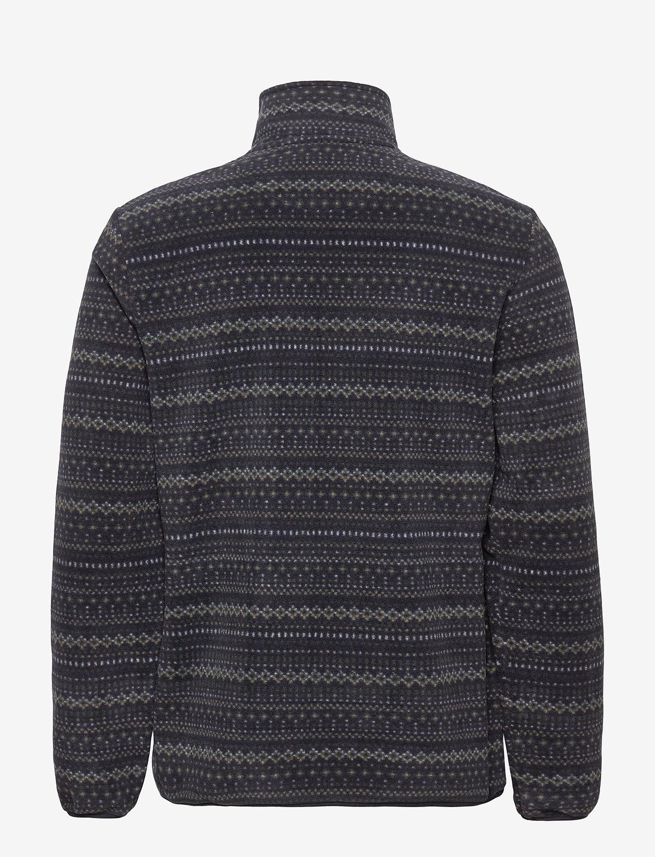 Lyle & Scott - Fairisle Fleece Half Zip - mid layer jackets - z865 jet black - 1
