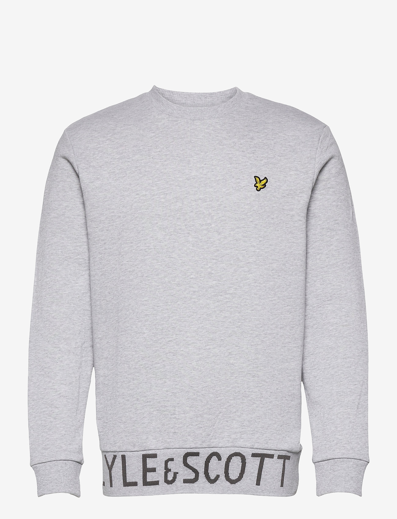 Lyle & Scott - Bottom Branded Crew Neck - sweats basiques - light grey marl - 0