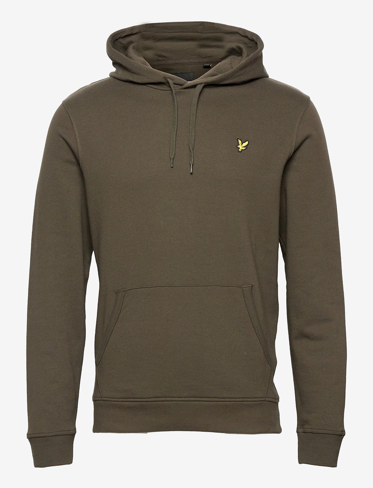 Lyle & Scott - Pullover Hoodie - hoodies - olive - 0