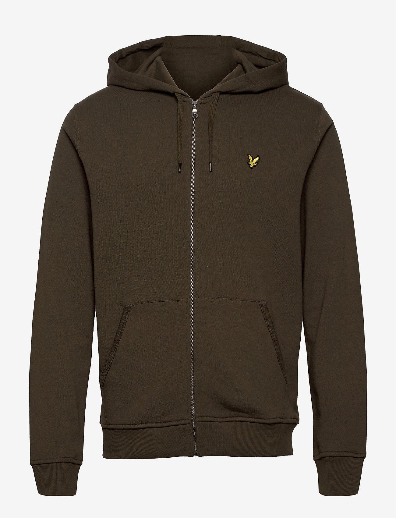 Lyle & Scott - Zip Through Hoodie - hoodies - olive - 0