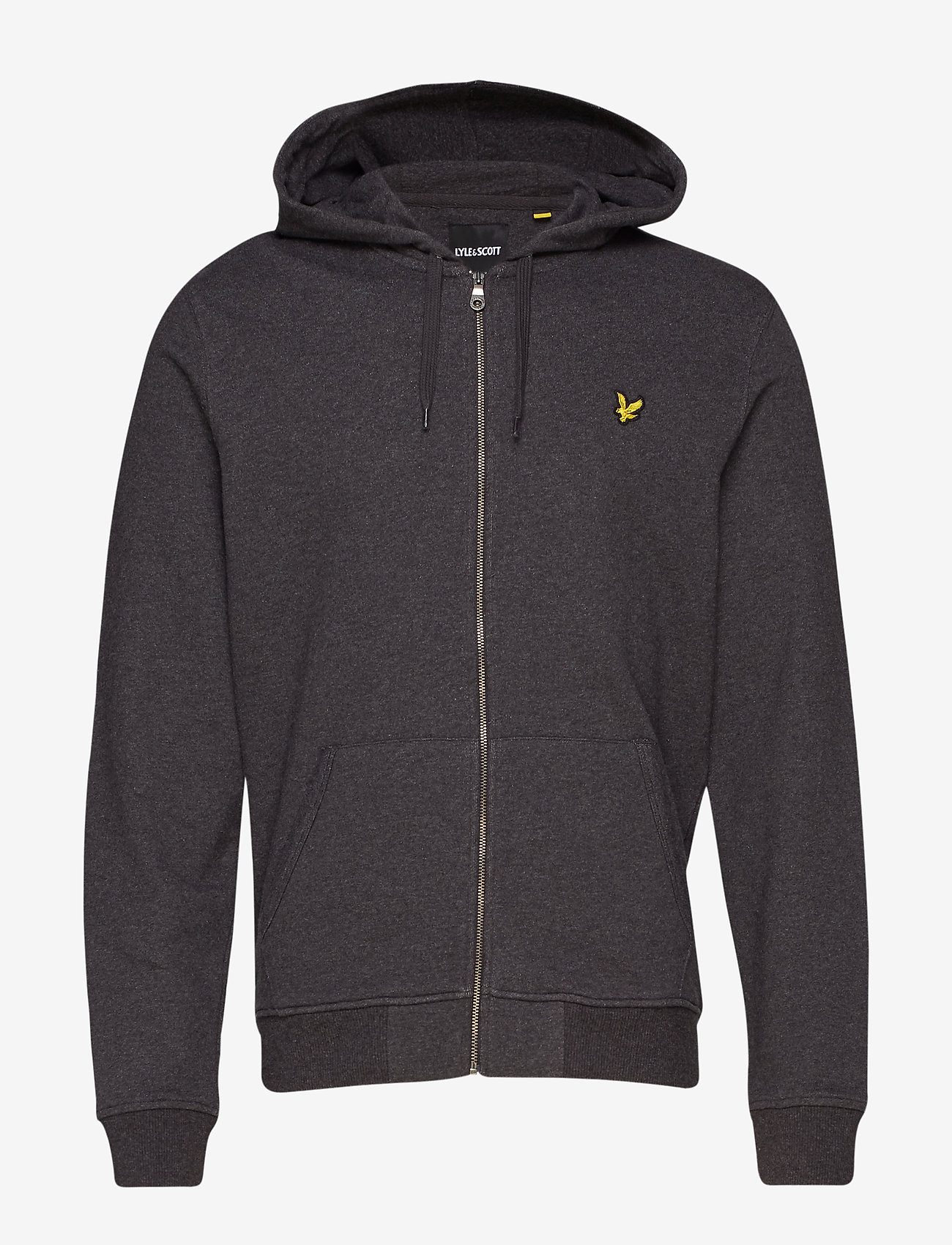 Lyle & Scott - Zip Through Hoodie - hoodies - charcoal marl - 0