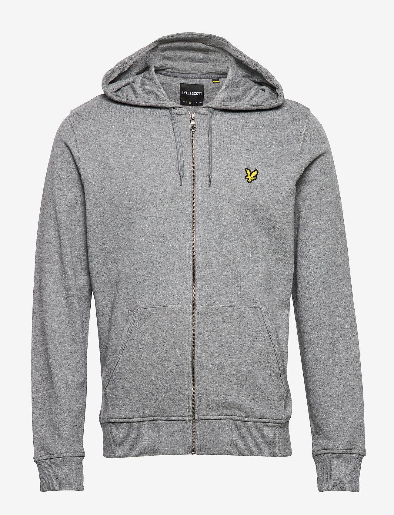 Lyle & Scott - Zip Through Hoodie - hoodies - mid grey marl - 0