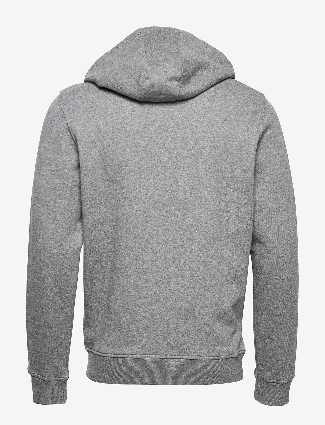 Lyle & Scott Zip Through Hoodie - Sweatshirts MID GREY MARL - Menn Klær