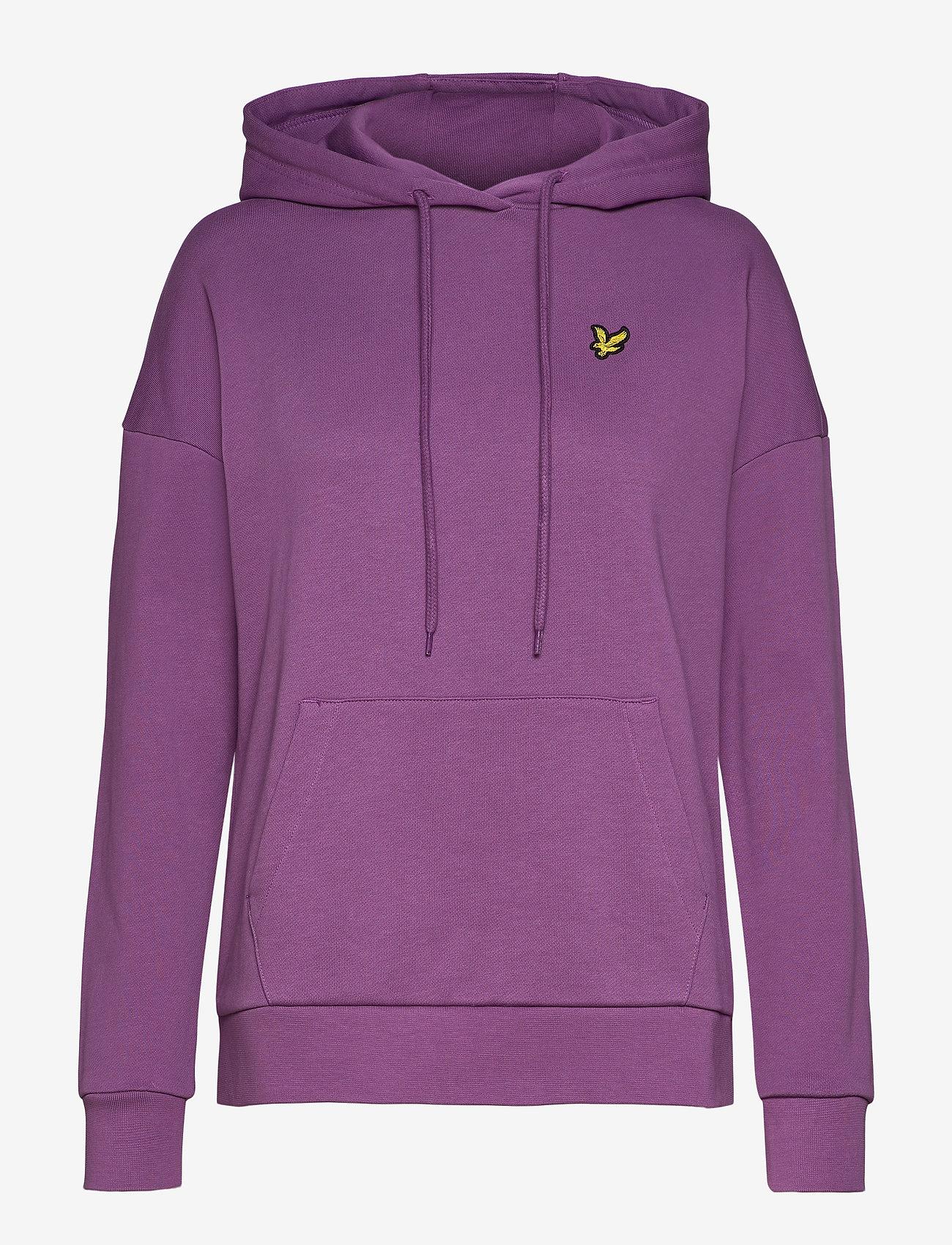 Lyle & Scott - Hoodie - sweatshirts & hoodies - dark thistle - 0