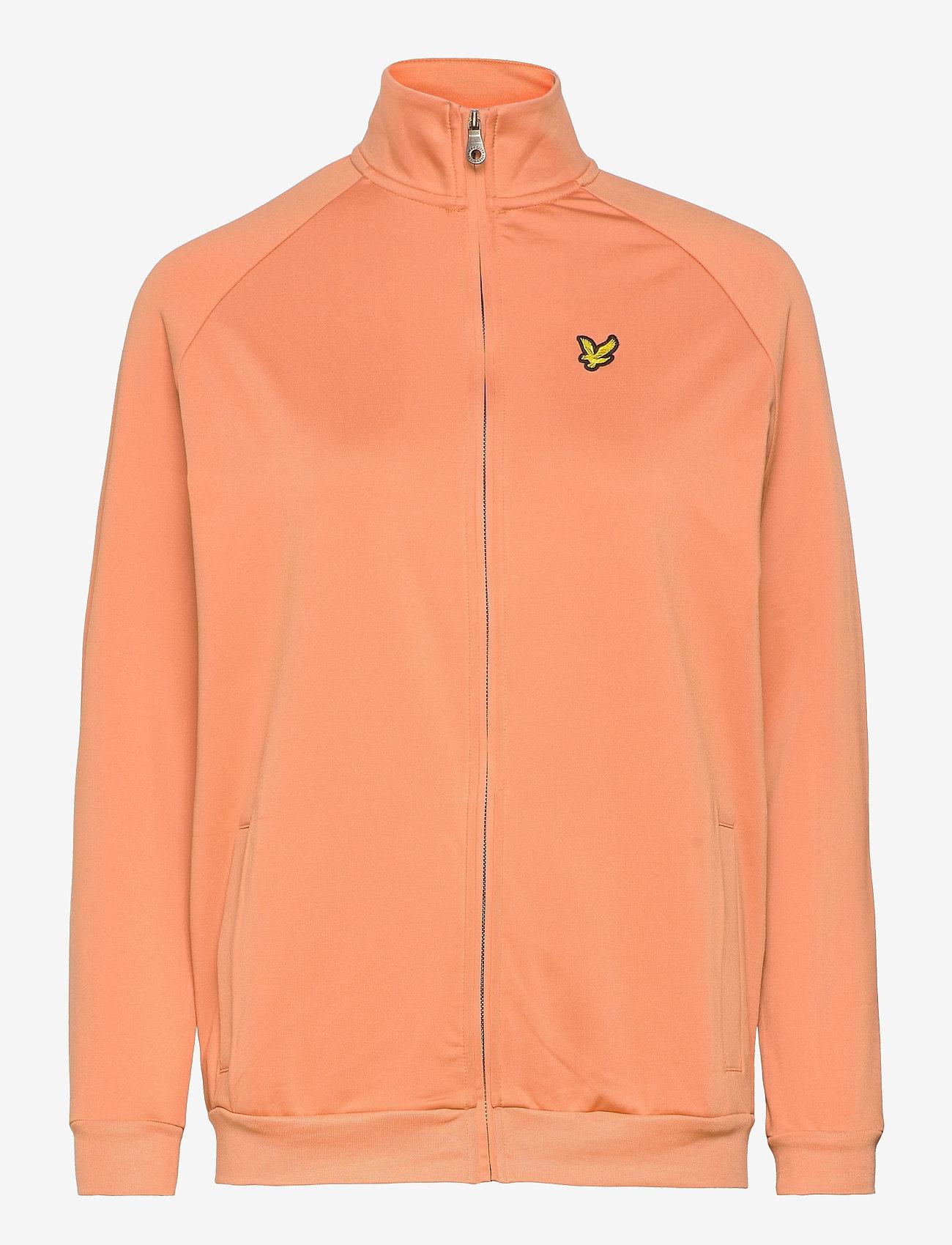 Lyle & Scott - Oversized Tricot Funnel Neck - sweatshirts & hoodies - dusk orange - 0