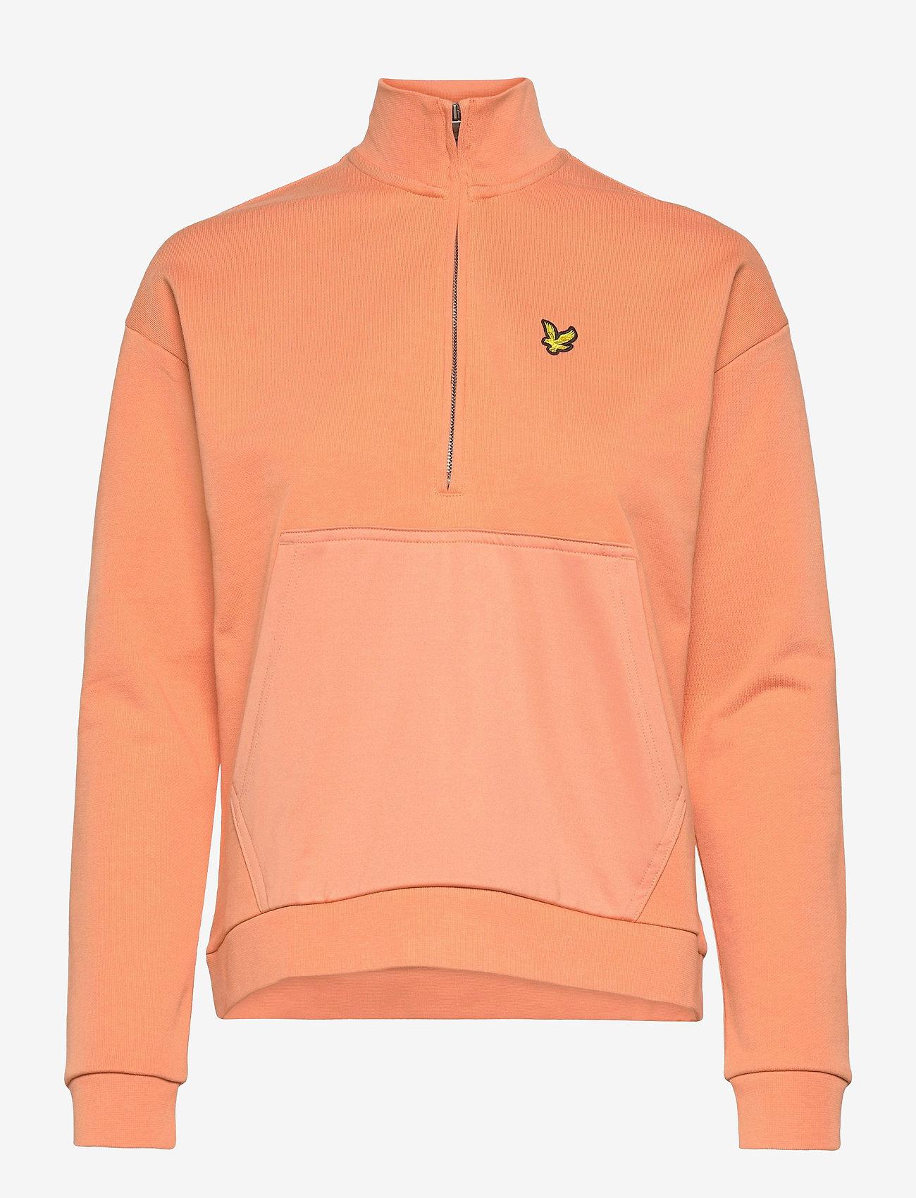 Lyle & Scott - 1/2 Zip Funnel Neck - sweatshirts en hoodies - dusk orange - 0
