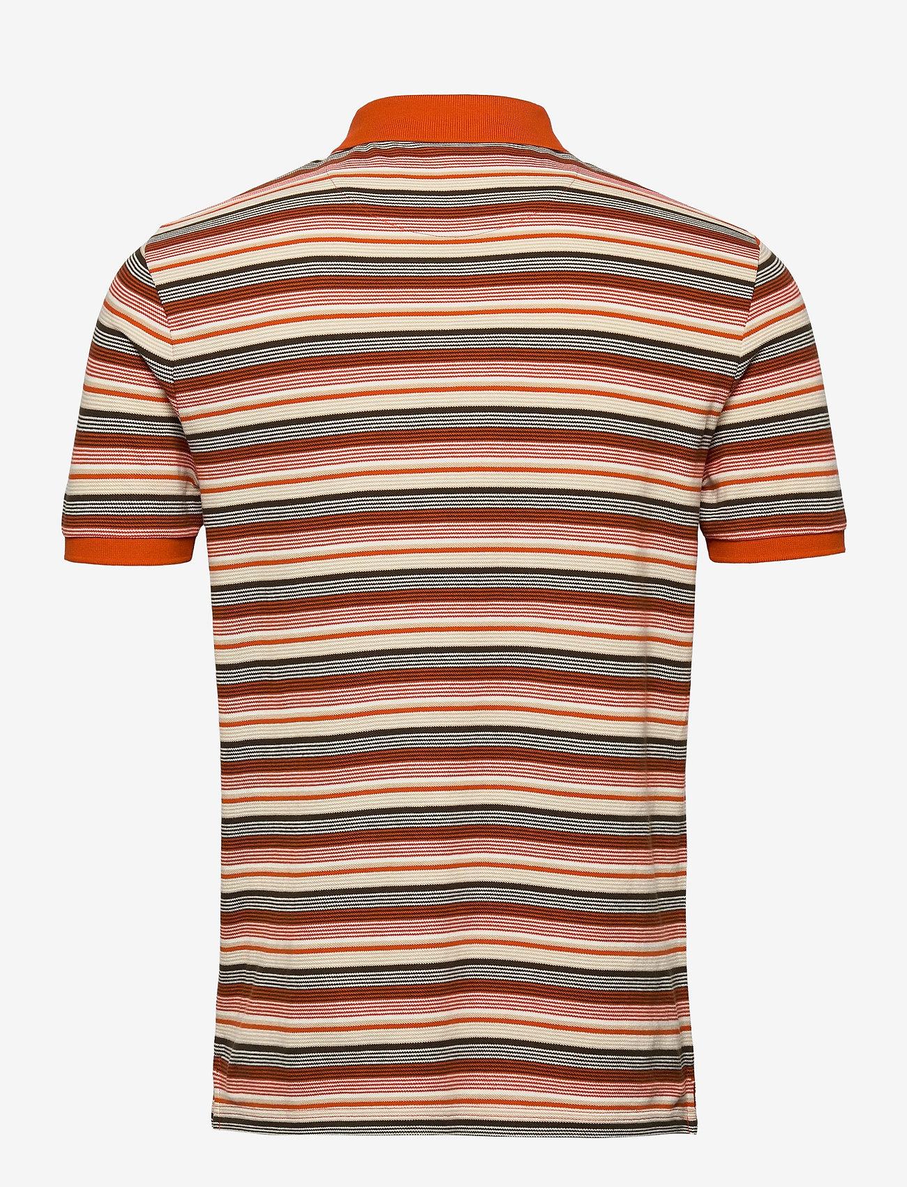 Lyle & Scott - Stripe Polo Shirt - polos à manches courtes - burnt orange - 1