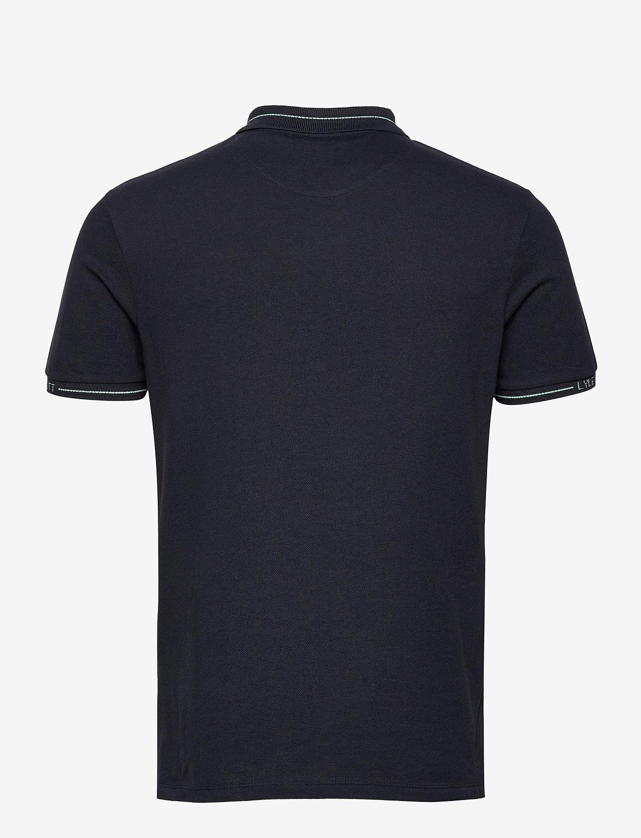 Lyle & Scott - Seasonal Branded Collar Polo Shirt - polos à manches courtes - dark navy - 1