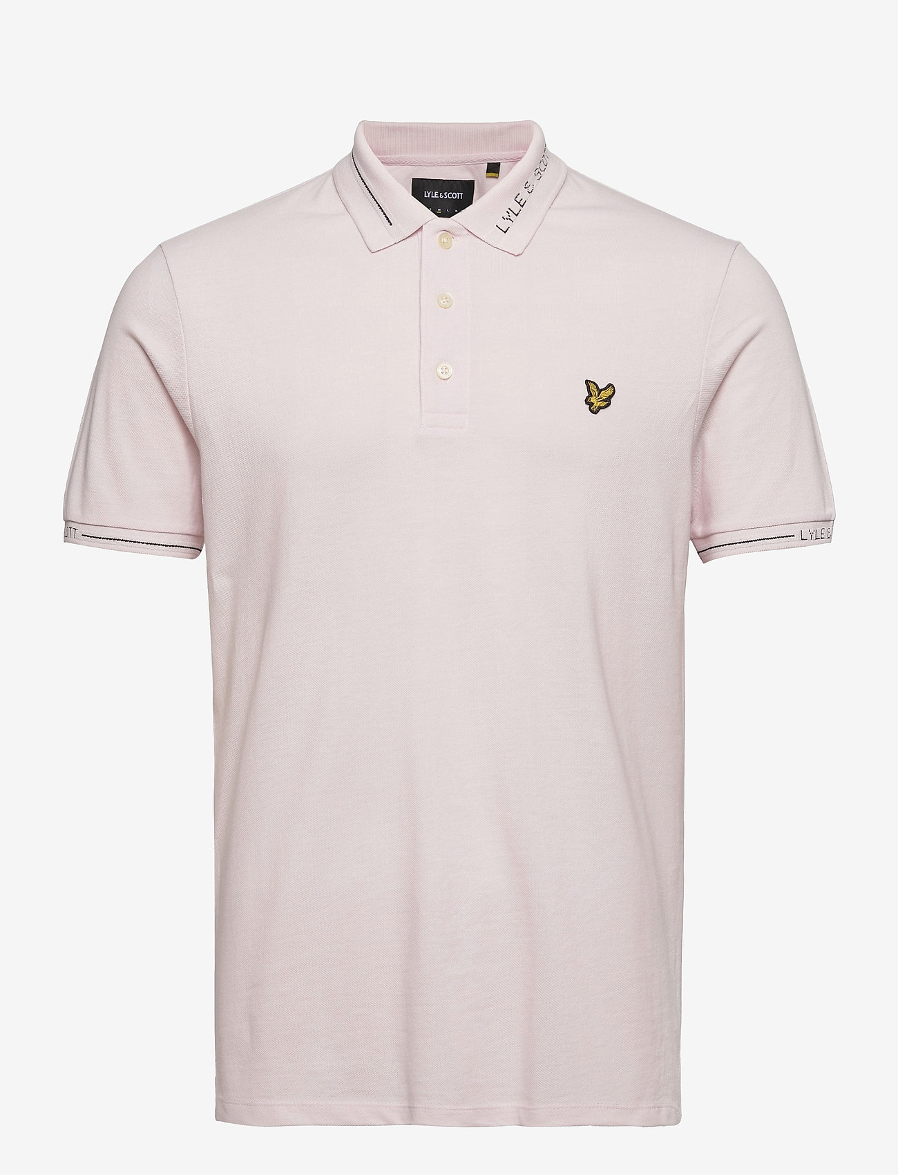 Lyle & Scott - Seasonal Branded Collar Polo Shirt - polos à manches courtes - stonewash pink - 0