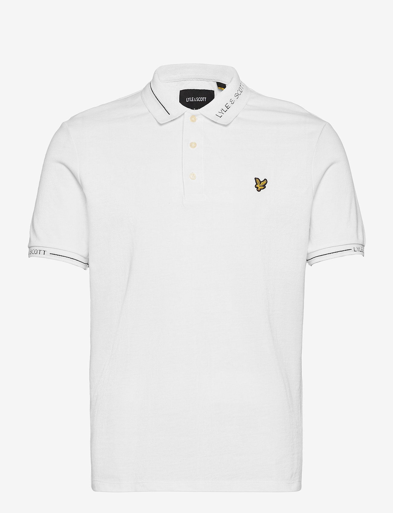 Lyle & Scott - Seasonal Branded Collar Polo Shirt - polos à manches courtes - white - 0