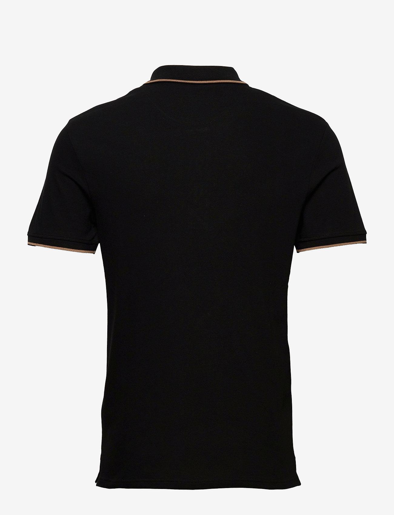 Lyle & Scott - Tipped Polo Shirt - poloshirts - jet black/ tan - 1
